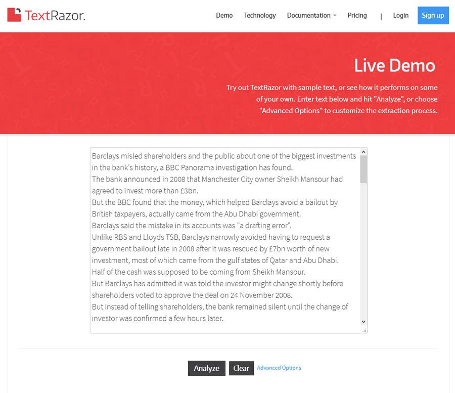 TextRazor-Demo