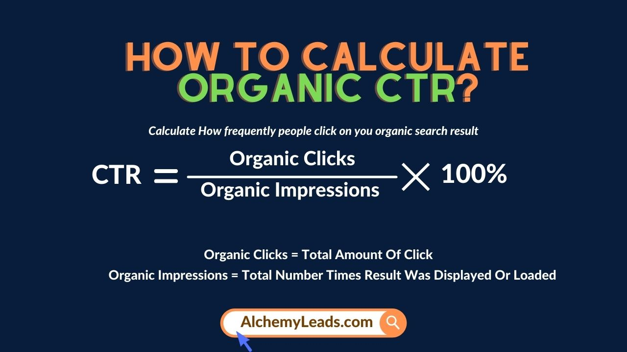 How to calculate Organic CTR