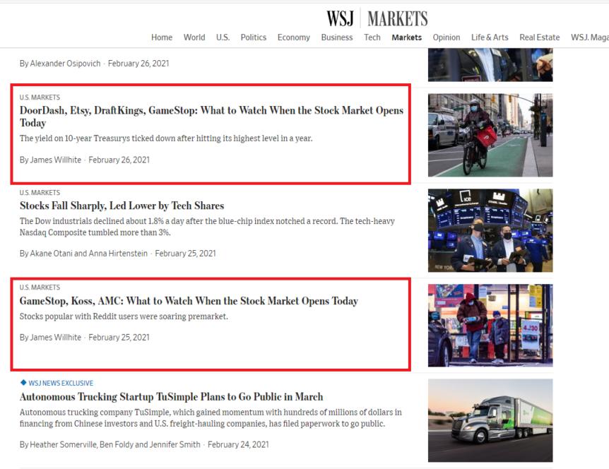 WSJ NEWS SEO Tactics